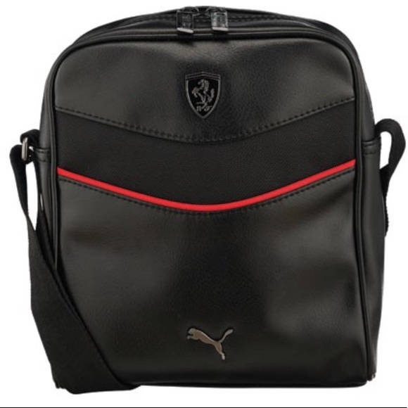 7bf38812a2f2 Black Puma Unisex Ferrari Man Bag. M 5a58570133162724f0bc9636